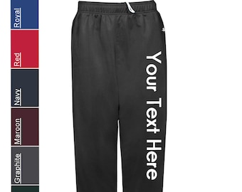 fa327c822e47cf Custom Made Badger - Brushed Tricot Youth Pants - 2711 Vinyl or Glitter  Print Customized All Colors