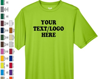 6f8aa1d6 Custom Made TT11 And TT11Y Team 365 Adult's And Youth Zone Performance T- Shirt Vinyl or Glitter Print Customized