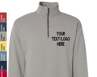 0e4c0fb7 Custom Hanes - Nano Quarter-Zip Sweatshirt - N290 Available in All sizes  and colors - Vinyl or Glitter Print