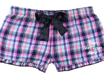 Custom Made Boxercraft  Women/'s Bitty Boxer F41 Purple Sparkle VIP Bitty Boxer Customized Shorts with Vinyl or Glitter Print