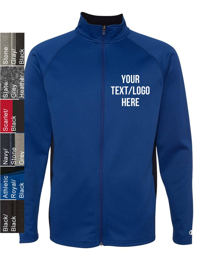 fd9a01b1706a Personalized Champion Performance Colorblock Full-Zip Jacket   Etsy