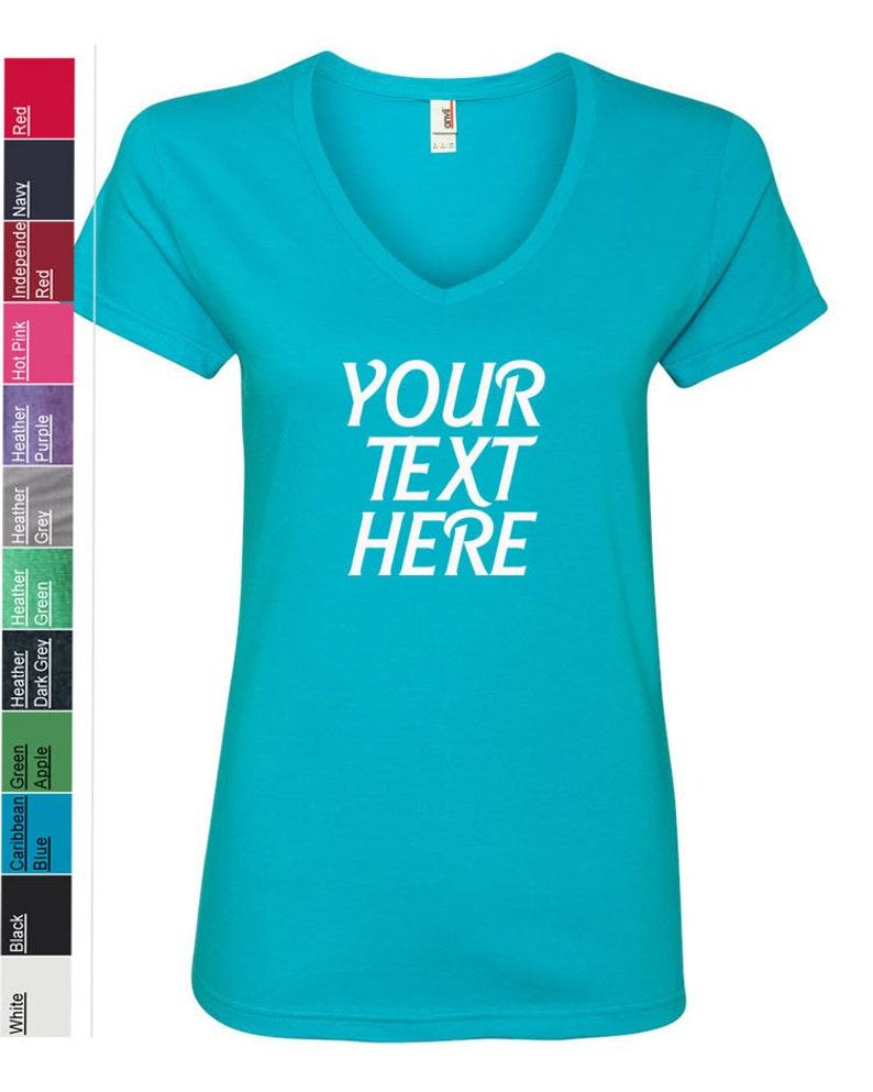21201dc1e6f24 Custom Made Anvil - Women's Lightweight Ringspun V-Neck T-Shirt - 88VL  Vinyl or Glitter Print Customized All Colors