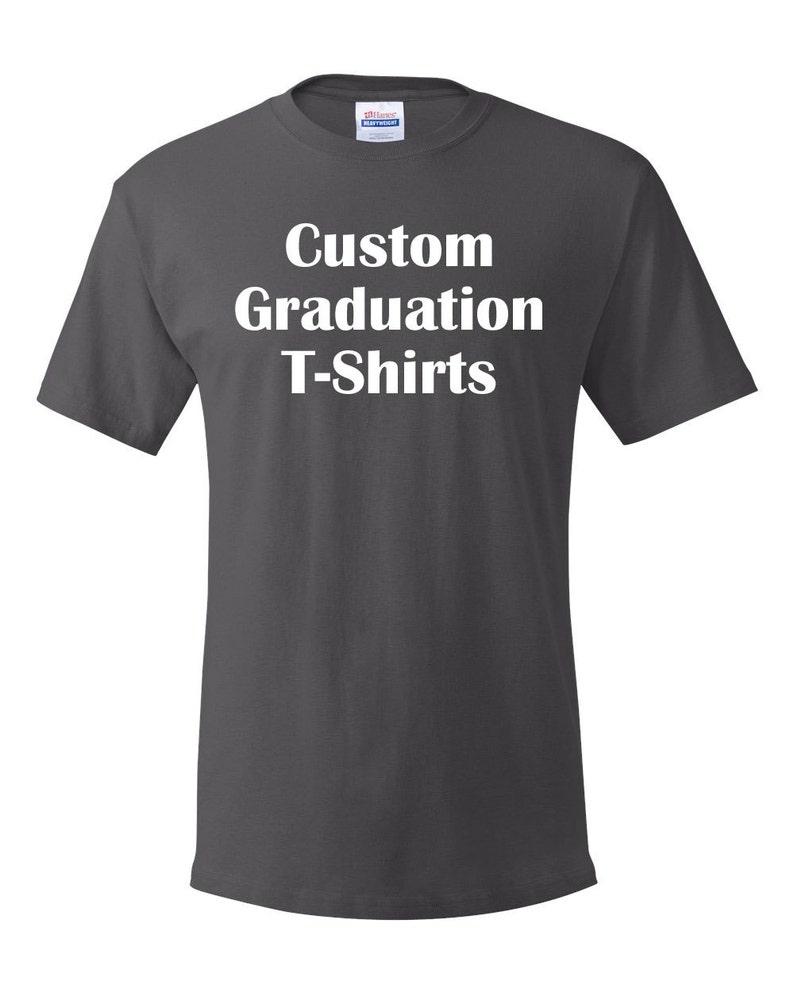 750d189c Custom Graduation Senior or Class of T-Shirts Hanes Comfort | Etsy