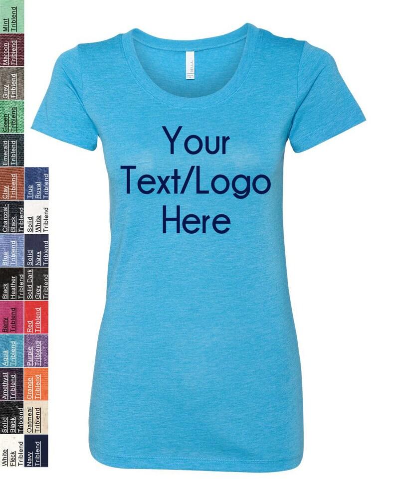 b2283f381 Custom Made Bella Canvas Women's Triblend Short Sleeve | Etsy