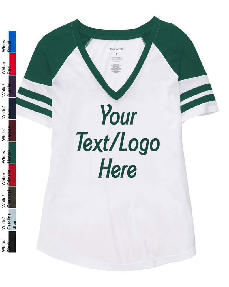 c88588103311b Custom Made Boxercraft T54 Ladies and Girls Arena Football Style Tee  Available in all Colors in Adult and Youth Sizes Team Shirts