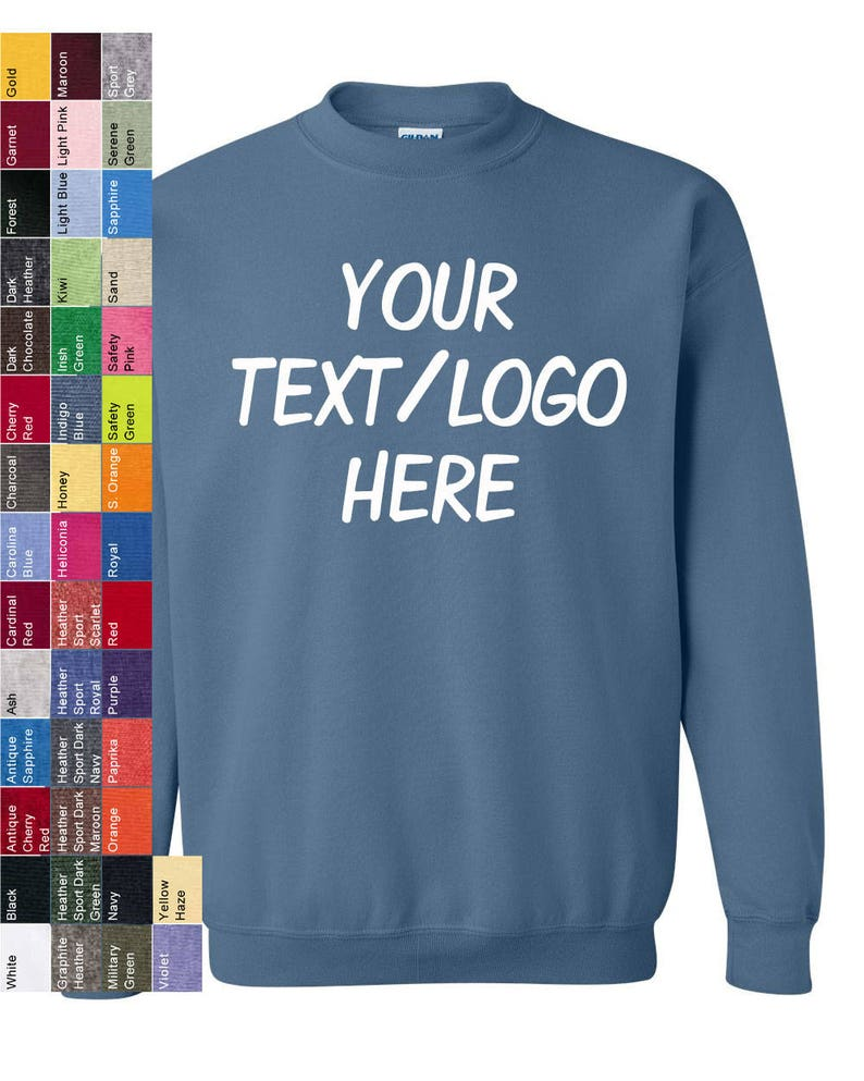 537d9b55590 Custom Made Gildan Heavy Blend Crewneck Sweatshirt 18000