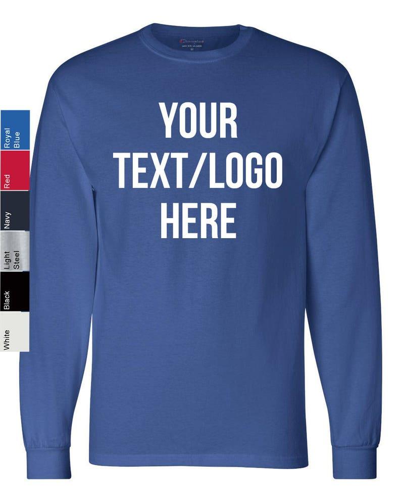84eeb1f25784 Personalized Champion Long Sleeve Tagless T-Shirt CC8C Vinyl | Etsy