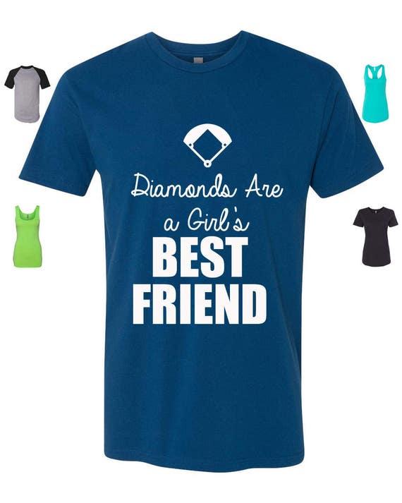 Encargo Diamantes Etsy Por Mejor Chica Camisa Amigo Una Béisbol 8U5rwxU