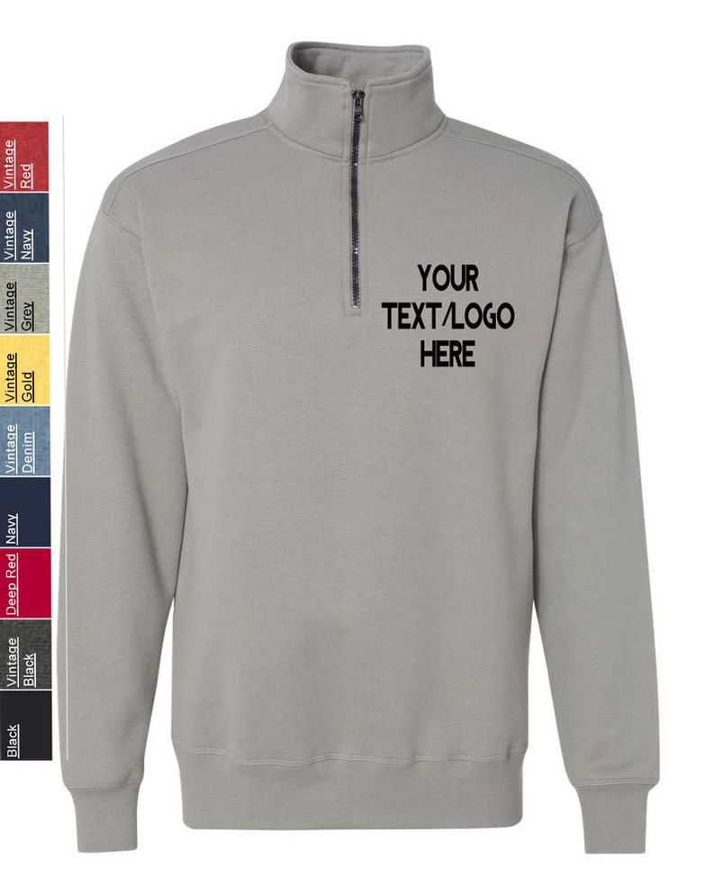 78e0730e Custom Hanes Nano Quarter-Zip Sweatshirt N290 Available in   Etsy