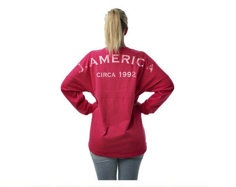 Personalized J.America Adult or Youth Pom Pom Cheer Style Game Day Jersey Custom Made /& Customized w Vinyl or Glitter