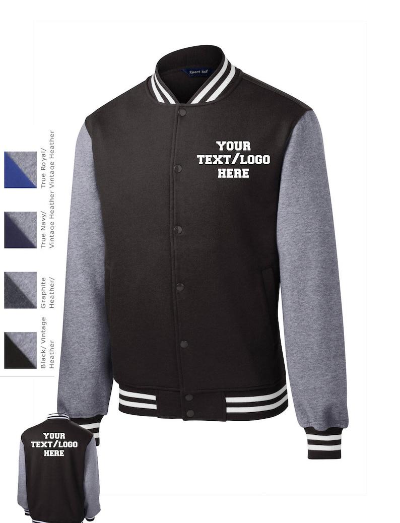 Custom Made Sport-Tek® Fleece Letterman Jacket  ST270  Vinyl image 0