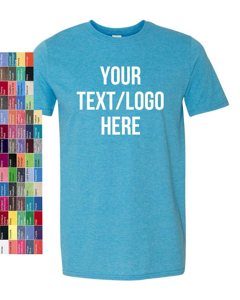 0f8a15e0ced Custom Made Gildan Softstyle T-Shirt 64000 with Vinyl or