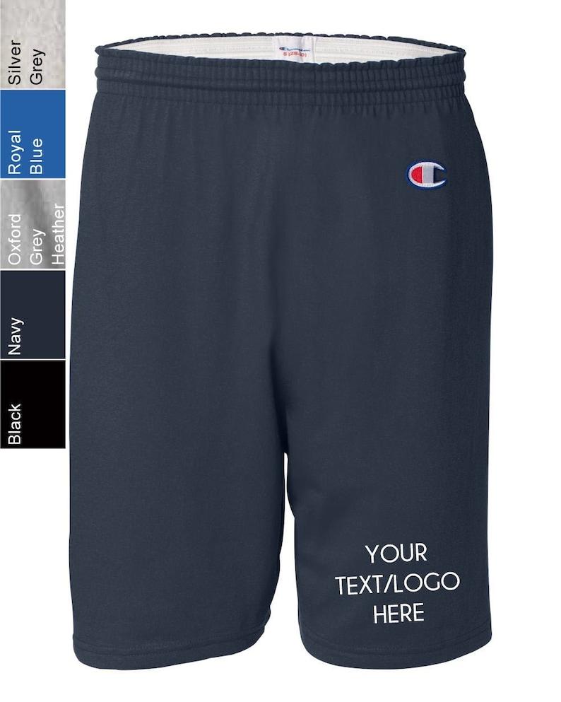 Cotton Gym Shorts Personalized Champion 8187 Vinyl Glitter Print Customized Champion apparel