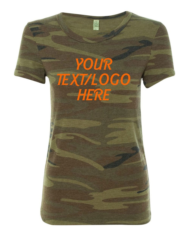 81c25ae501450 Custom Alternative Ladies' Ideal T-Shirt 1940 Camo | Etsy