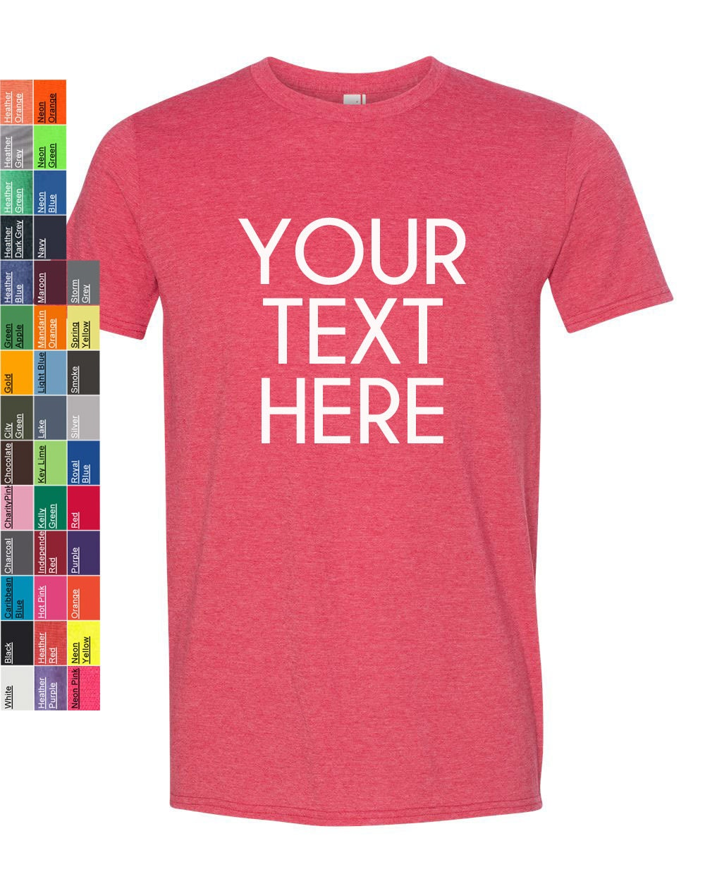 Custom Made Anvil Lightweight Fashion Short Sleeve T Shirt 980 Vinyl Or Glitter Print Customized All Colors