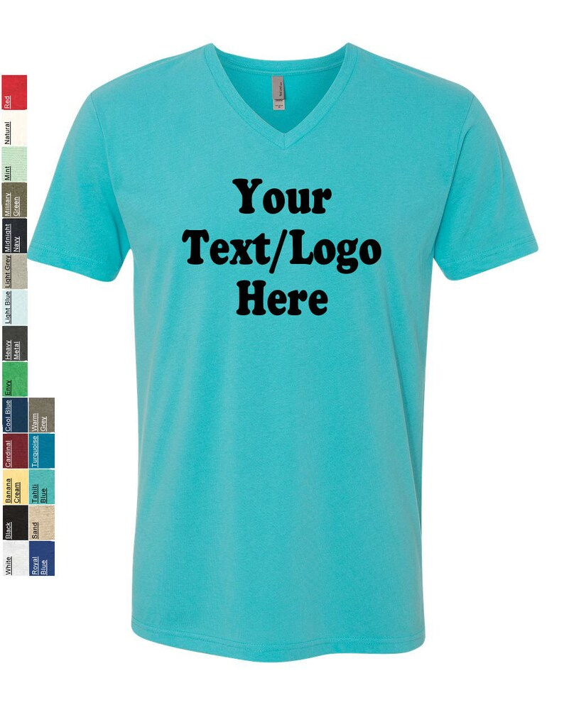 3bc69f34182 Personalized Next Level Premium Fitted Sueded V-Neck T-Shirt