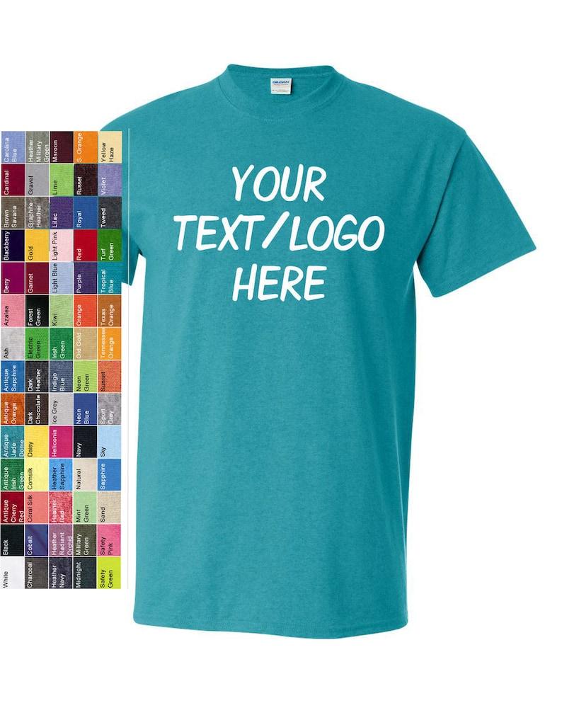 047f7cf6 Custom Made Gildan Heavy Cotton T-Shirt 5000 with Vinyl or | Etsy