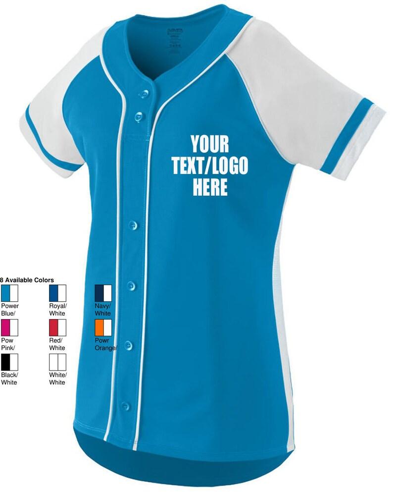 b233d8645c8 Custom Augusta Sportswear Women's Girls Winner Jersey 1665 | Etsy