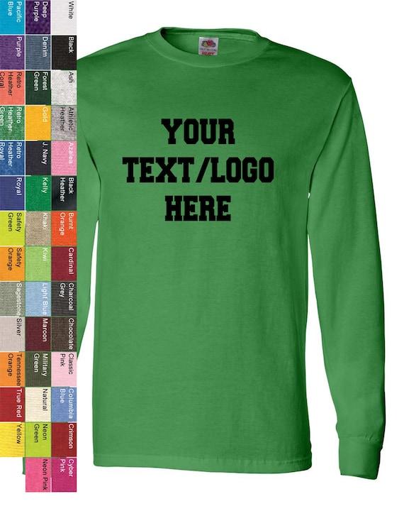 731373ad Custom Fruit of the Loom HD Cotton Long Sleeve T-Shirt | Etsy