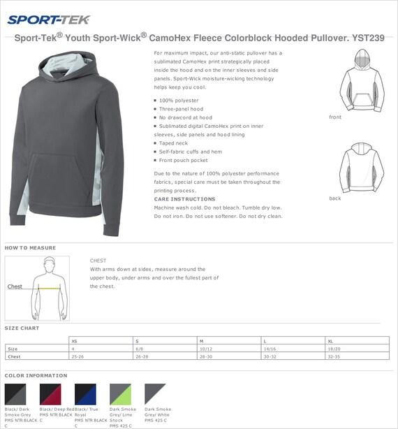 YST239 SPORT-TEK Fleece Hooded Pullover