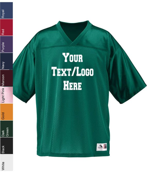various colors 08414 a78b4 Custom Made Augusta Sportswear - Youth Stadium Replica Jersey - 258 with  Vinyl or Glitter Print Custom Football Jersey