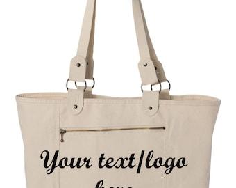 Custom Made Carolina Sewn - Sideline Tote - C233 Rhinestone Glitter or Vinyl Print Customized Tote Bag