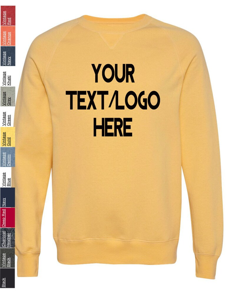 c781ce0b Custom Hanes Nano Crewneck Sweatshirt N260 Available in   Etsy