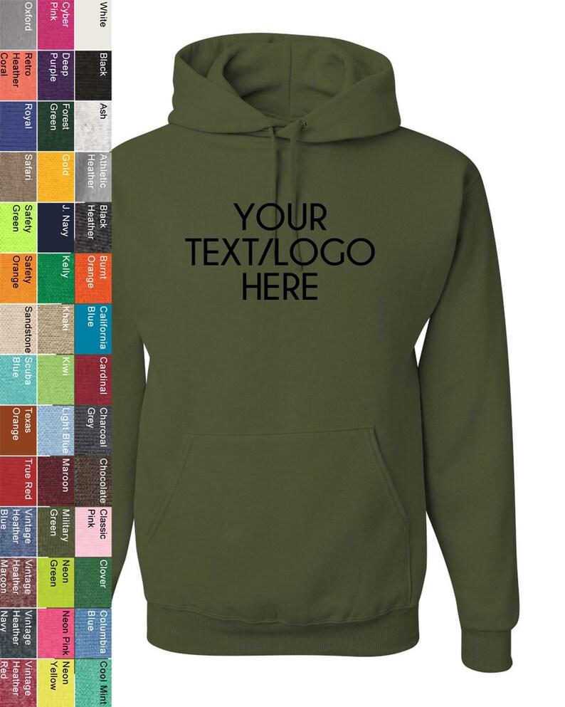 841c37dff Custom Made Jerzees NuBlend Hooded Sweatshirt 996MR Adult | Etsy