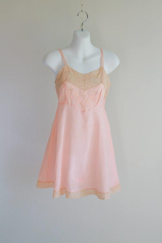 1920s Laurel Weave, Silk Step In Cami-Teddy - size
