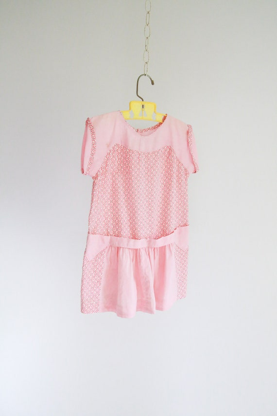 "1930s, Baby Feedsack Dress - 29"" Bust"