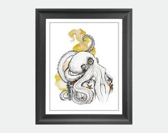 Majestic Octopus Print