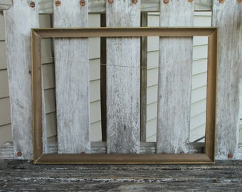 Vintage Wood Frame Lightweight Thin Distressed Painted for 14x10 Picture Painting