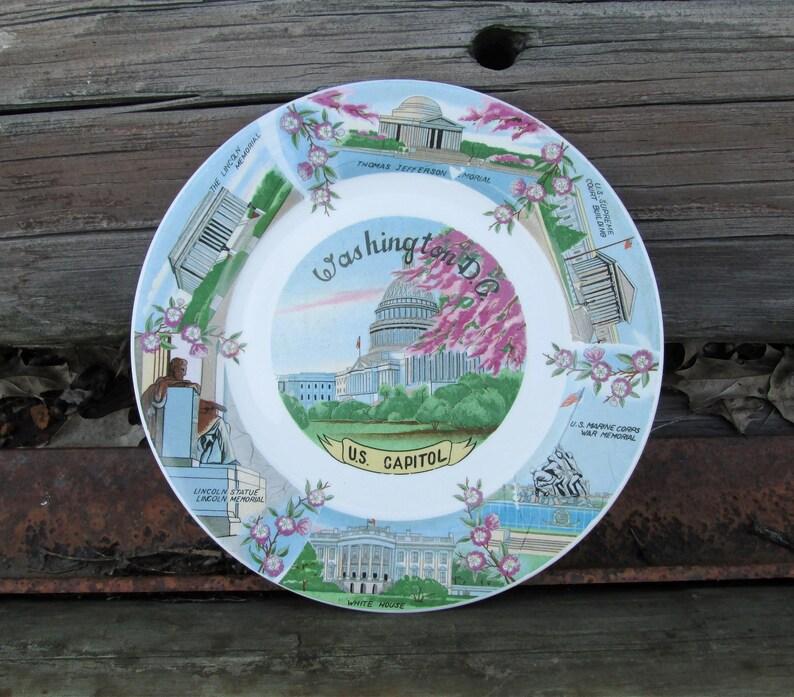 Washington DC Souvenir Decorative Plate