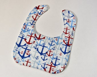 Baby Bib Handmade Baby Items Anchors Boat Bib Baby Shower Gift Baby Bib Boy Dribble or Feeding Infant Gifts, Drool Bib