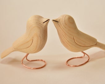 Wooden Birds Unfinished Wood Carvings 2 Wood Ornaments Fall Crafts Woodworking Wood Sculpture Adult Craft Supply Wood Ornament Blanks