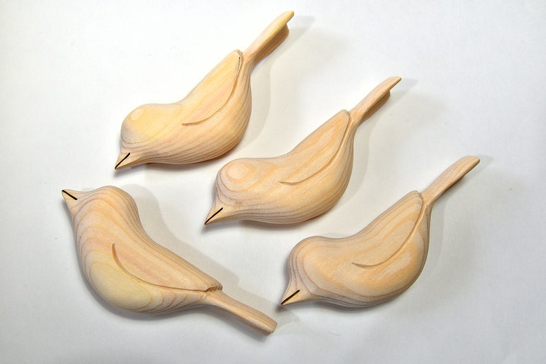 Unfinished Ornaments Wood Bird Carvings Wooden Bird Sculpture Etsy