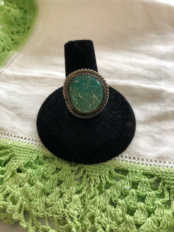 Vintage Sterling Silver Turquoise Ring Old Pawn