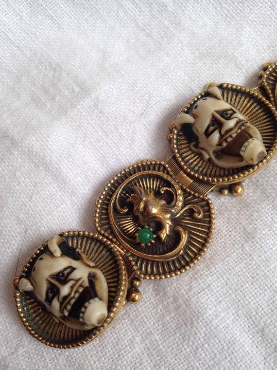 Florenza Japanese Noh Devil Mask Bracelet - image 4