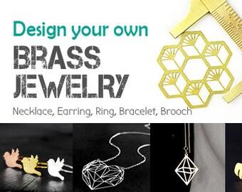 Free Shipping - Design You Own Brass Pendant Jewelry Service (Mini Order 50pcs each Design)