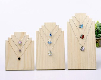 1pcs Natural Wood Necklace Display Holder / Necklace Bracket, Jewelry Display Cabinets / Tool, Jewelry Supplies (DH010)