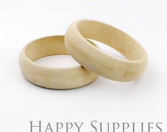 2 pcs Unfinished Blank Wooden Bracelet (MT027)