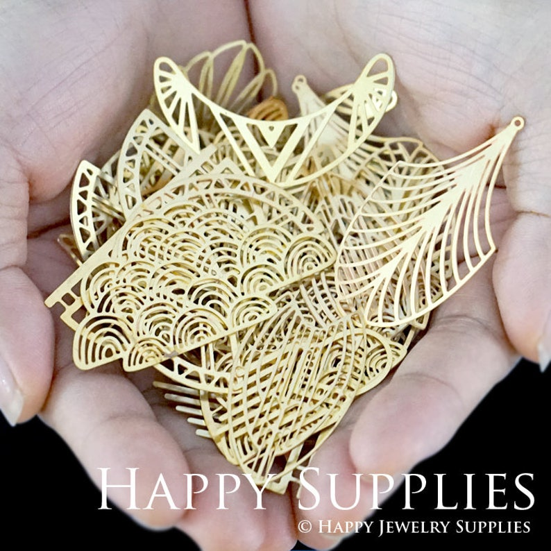 Last Fit For Necklace Brooch--Clearance Sale Earring Imperfect 30pcs Send Randomly Raw Brass Charm  Pendant