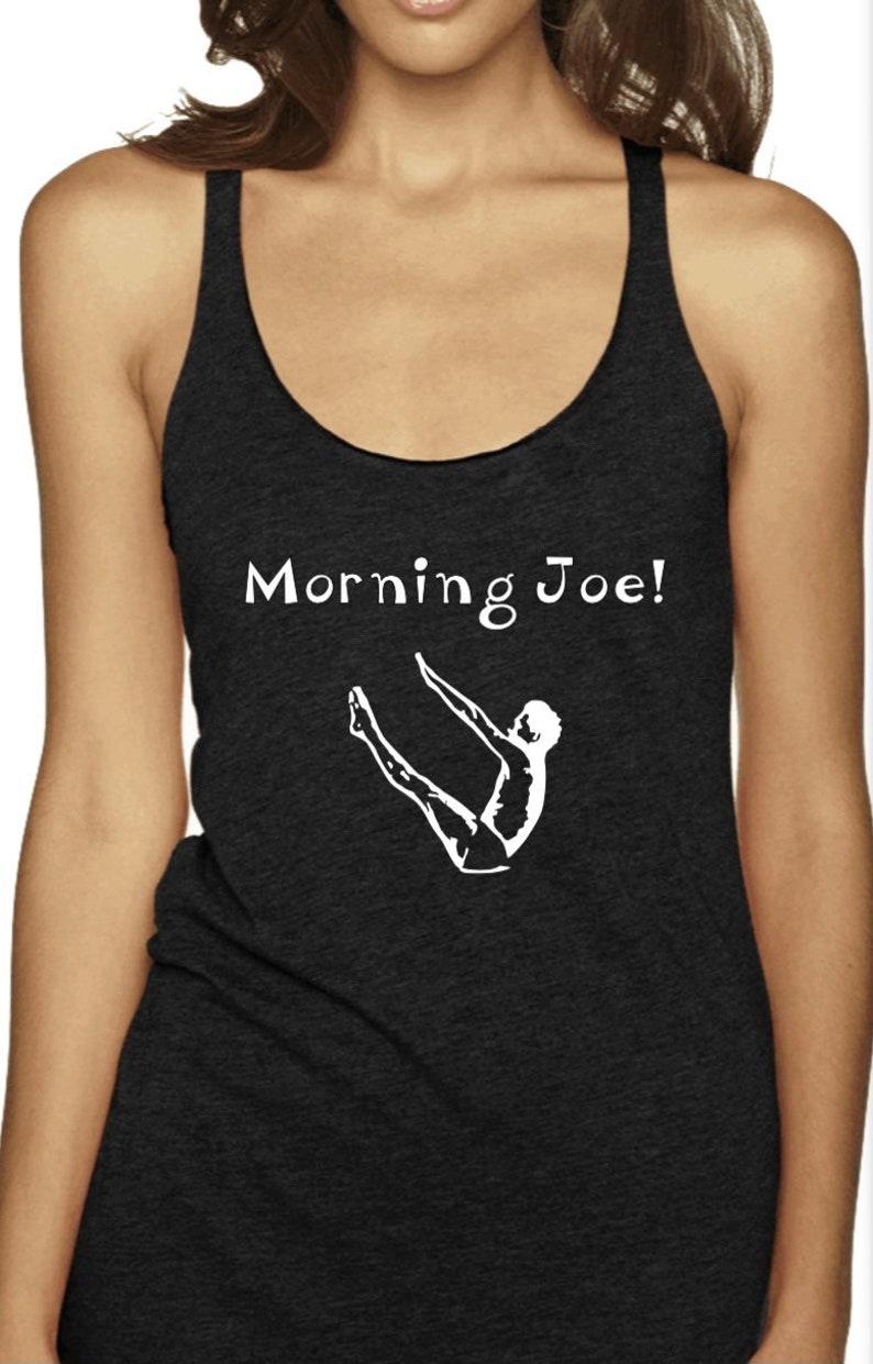 womans, Morning Joe Pilates raw edge vintage black  tank top