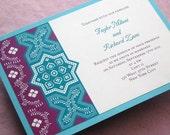 Items similar to stylish persian wedding invitation sample pattern stylish persian wedding invitation sample pattern tile filmwisefo