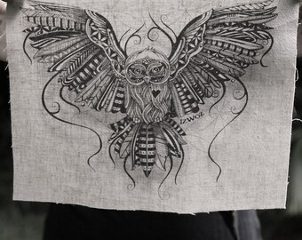Owl Love Hemp/Organic Cotton Patch