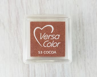 VersaColor Pigment Ink Pad Small in Cocoa - Brown Inkpad - Ink for stamp - Inkpad for Rubber Stamp - Versa Color - Colour Ink Pad
