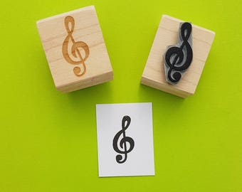 Treble Clef Rubber Stamp Set - Music Stamper - Treble Clef - Gift for Musician - Music Teacher Present - Musical Notes -