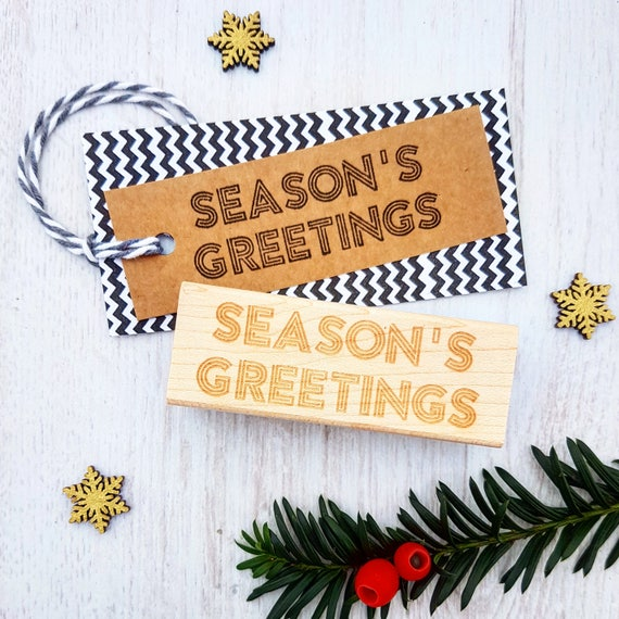 Christmas seasons greetings neon sign rubber stamp etsy image 0 m4hsunfo