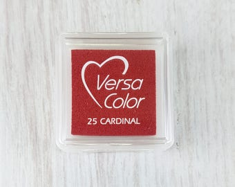 VersaColor Pigment Ink Pad Small in Cardinal - Red Inkpad - Ink for stamp - Inkpad for Rubber Stamp - Versa Color - Colour Ink Pad
