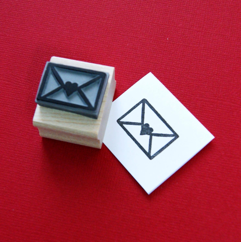 Love Letter Rubber Stamp Wedding Stamper Wedding Gift | Etsy